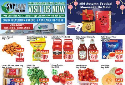 Skyland Food Mart Flyer September 10 to 16