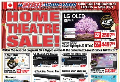 2001 Audio Video Flyer September 10 to 16
