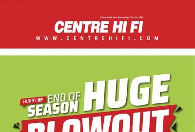 Centre Hi-Fi Flyer September 10 to 16