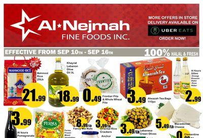 Alnejmah Fine Foods Inc. Flyer September 10 to 16
