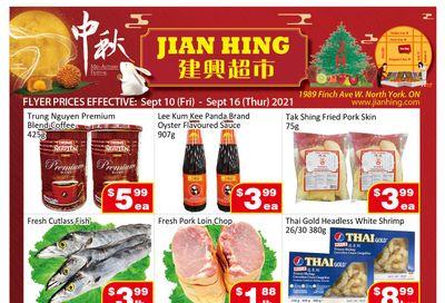 Jian Hing Supermarket (North York) Flyer September 10 to 16