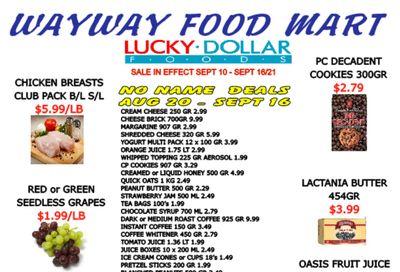 WayWay Food Mart Flyer September 10 to 16