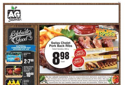 AG Foods Flyer September 12 to 18