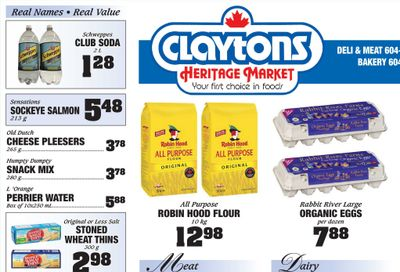 Claytons Heritage Market Flyer September 10 to 16