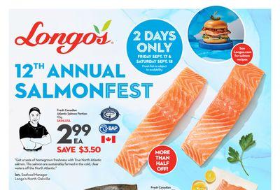 Longo's SalmonFest Flyer September 16 to 18