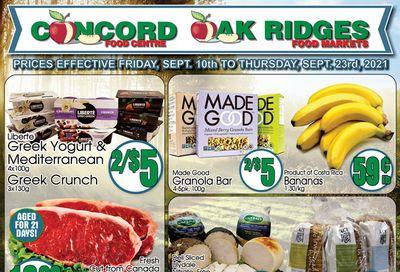 Concord Food Centre & Oak Ridges Food Market Flyer September 10 to 16