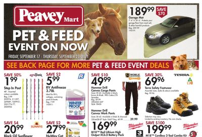 Peavey Mart Flyer September 17 to 23