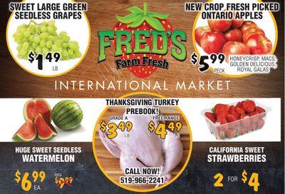 Fred's Farm Fresh Flyer September 15 to 21