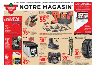 Canadian Tire (QC) Flyer September 16 to 22