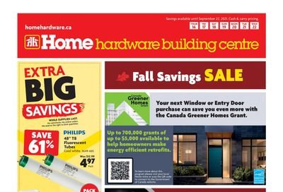 Home Hardware Building Centre (BC) Flyer September 16 to 22