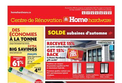 Home Hardware Building Centre (QC) Flyer September 16 to 22