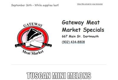 Gateway Meat Market Flyer September 16 to 22