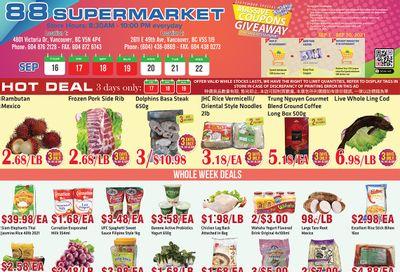 88 Supermarket Flyer September 16 to 22
