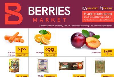 Berries Market Flyer September 16 to 22