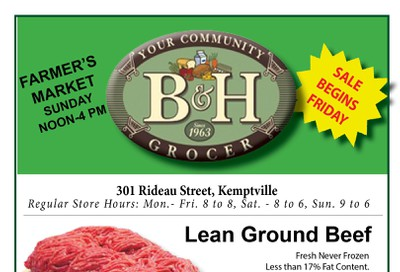 B&H Your Community Grocer Flyer September 6 to 12