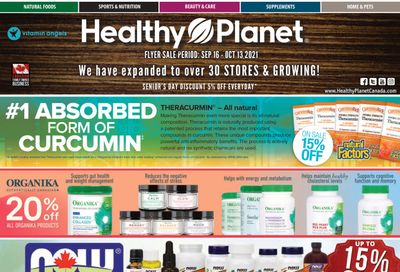 Healthy Planet Flyer September 16 to October 13