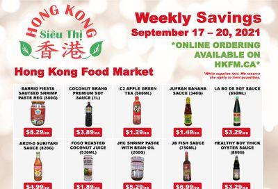 Hong Kong Food Market Flyer September 17 to 20