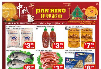 Jian Hing Supermarket (North York) Flyer September 17 to 23