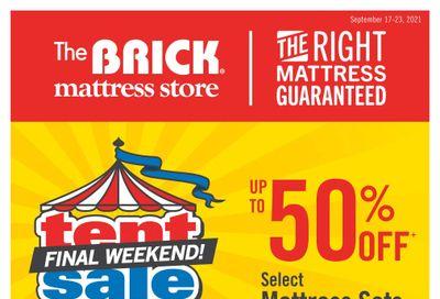 The Brick Mattress Store Flyer September 17 to 23