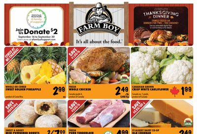 Farm Boy Flyer September 23 to 29