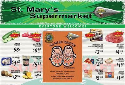 St. Mary's Supermarket Flyer September 22 to 28