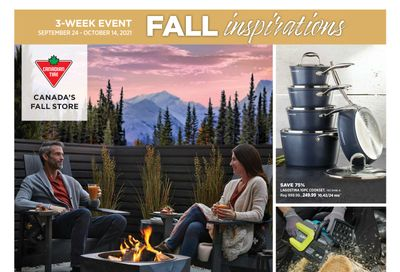 Canadian Tire Fall Inspirations Flyer September 24 to October 14
