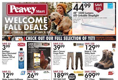 Peavey Mart Flyer September 24 to 30
