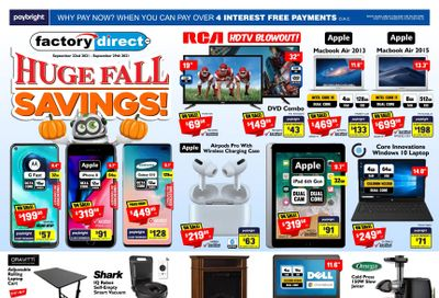 Factory Direct Flyer September 22 to 29