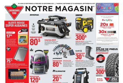Canadian Tire (QC) Flyer September 23 to 29