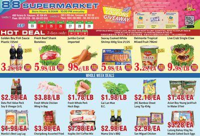 88 Supermarket Flyer September 23 to 29