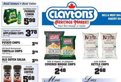 Claytons Heritage Market Flyer September 24 to 30