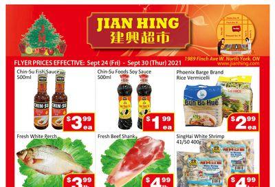 Jian Hing Supermarket (North York) Flyer September 24 to 30