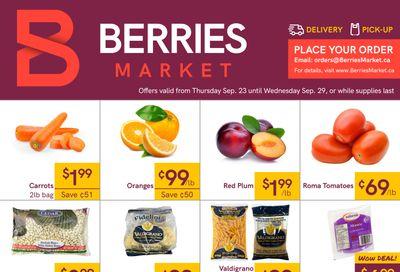 Berries Market Flyer September 23 to 29