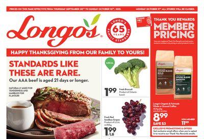 Longo's Flyer September 30 to October 10
