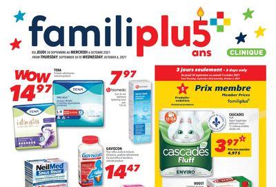 Familiprix Clinique Flyer September 30 to October 6