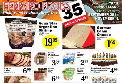 Ferraro Foods Flyer September 28 to November 1