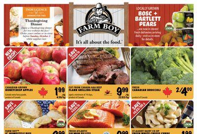 Farm Boy Flyer September 30 to October 6