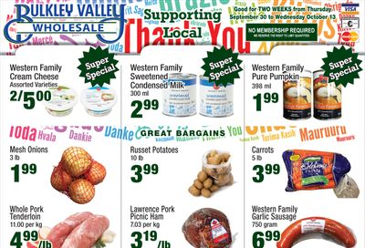 Bulkley Valley Wholesale Flyer September 30 to October 6
