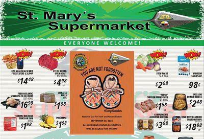 St. Mary's Supermarket Flyer September 29 to October 5