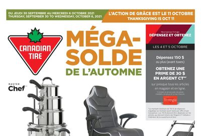 Canadian Tire (QC) Flyer September 30 to October 6