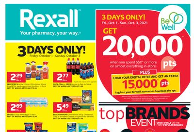 Rexall (BC, SK & MB) Flyer October 1 to 7