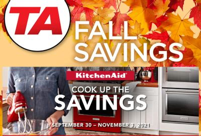 TA Appliances & Barbecues Fall Savings Flyer September 30 to November 3