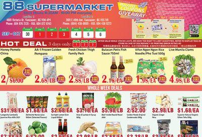 88 Supermarket Flyer September 30 to October 6