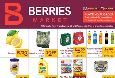 Berries Market Flyer September 30 to October 6
