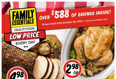 Freson Bros. Family Essentials Flyer October 1 to 28
