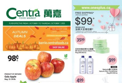 Centra Foods (Barrie) Flyer October 1 to 7
