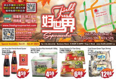 Field Fresh Supermarket Flyer October 1 to 7