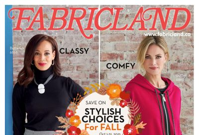 Fabricland (ON) Flyer October 1 to 31