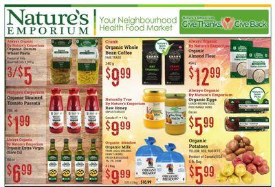 Nature's Emporium Flyer October 1 to 14