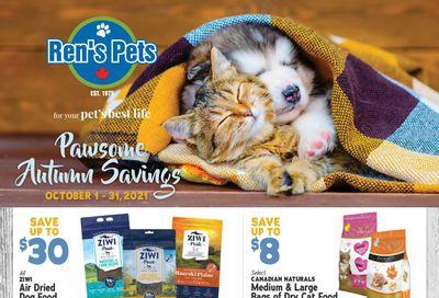 Ren's Pets Depot Pawsome Autumn Savings Flyer October 1 to 31